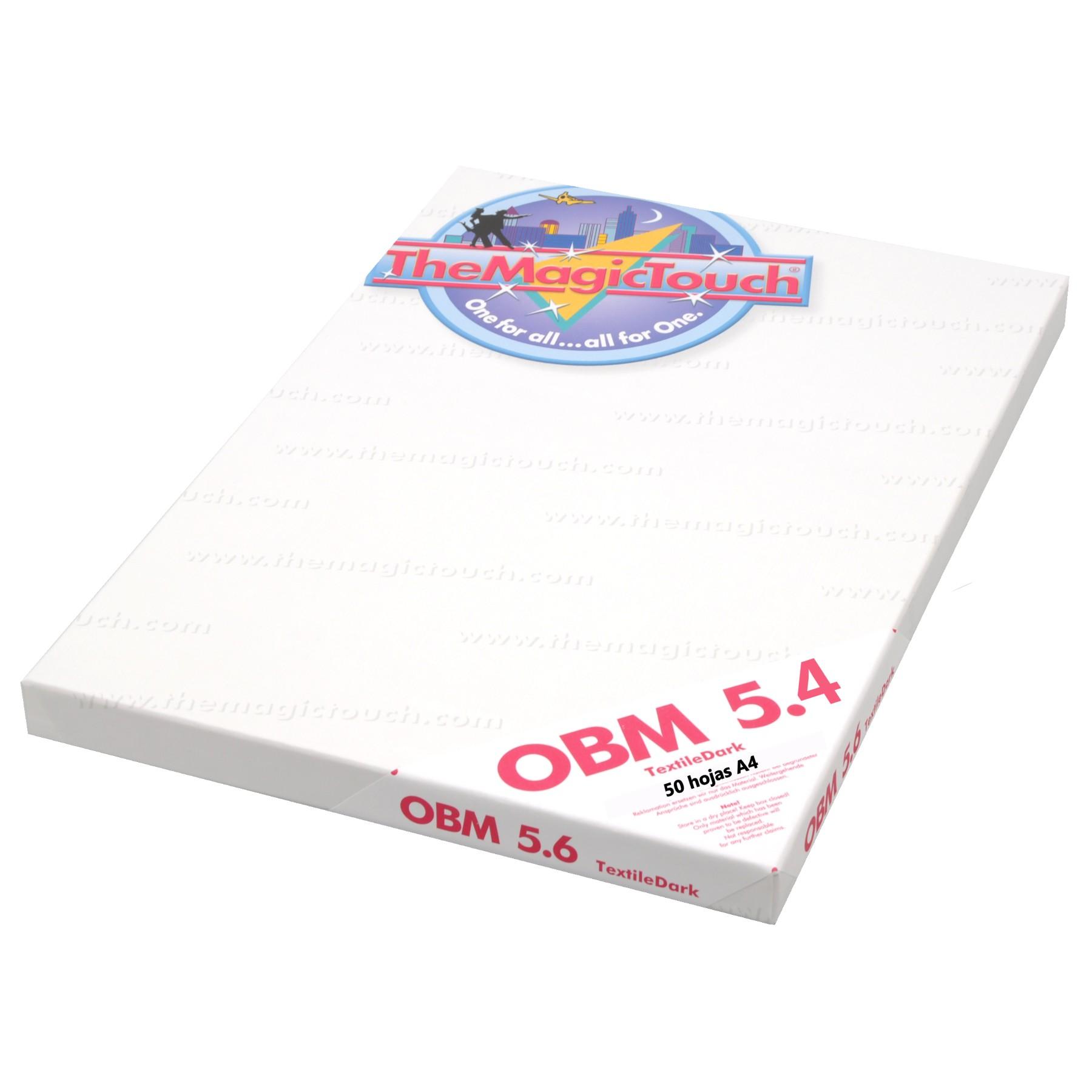 Papel transfer para telas oscuras OBM 5.4, caja de 50 hojas A4