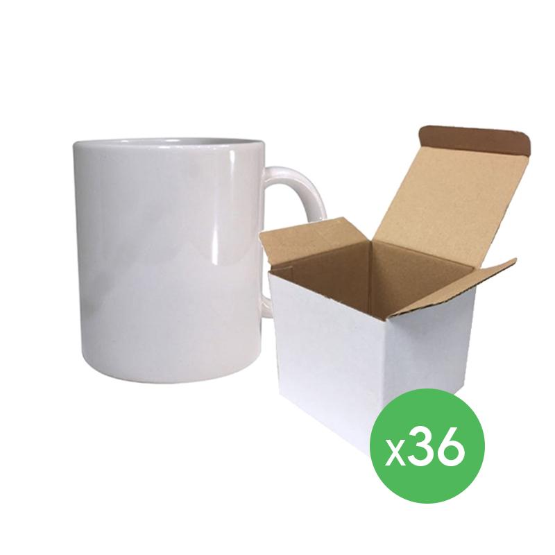 Tazones sublimables 11 oz Premium - 36 un. con caja