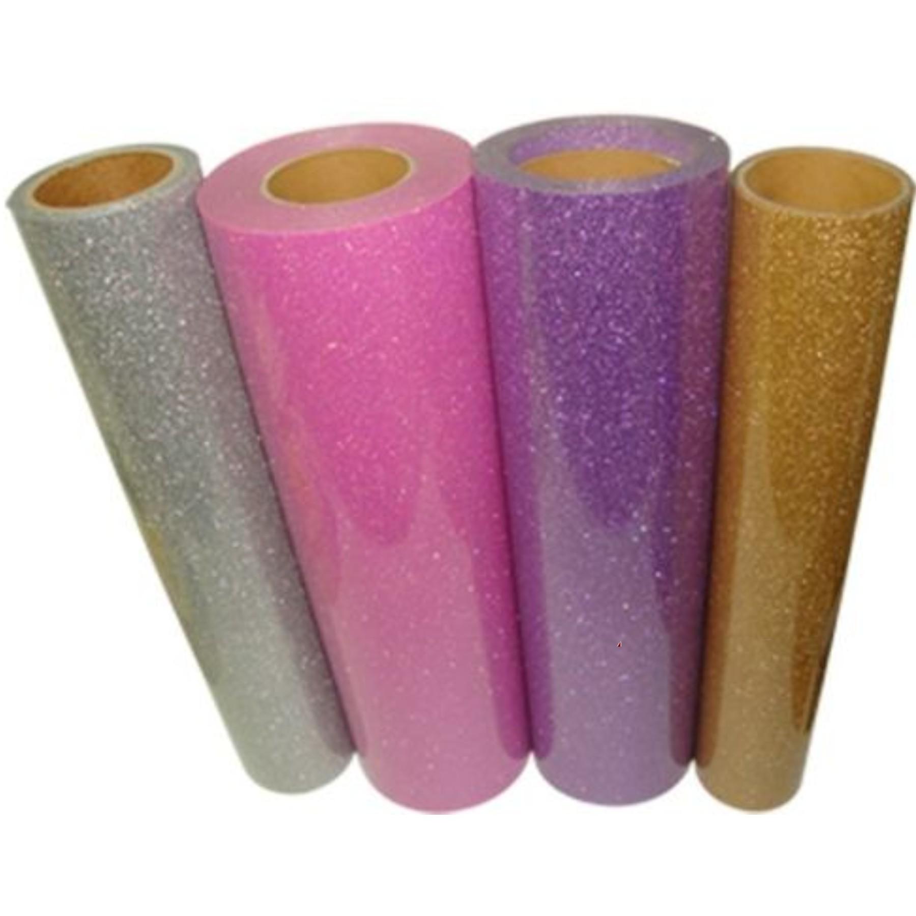 Vinilo termotransferible glitter 30 x 50 cm