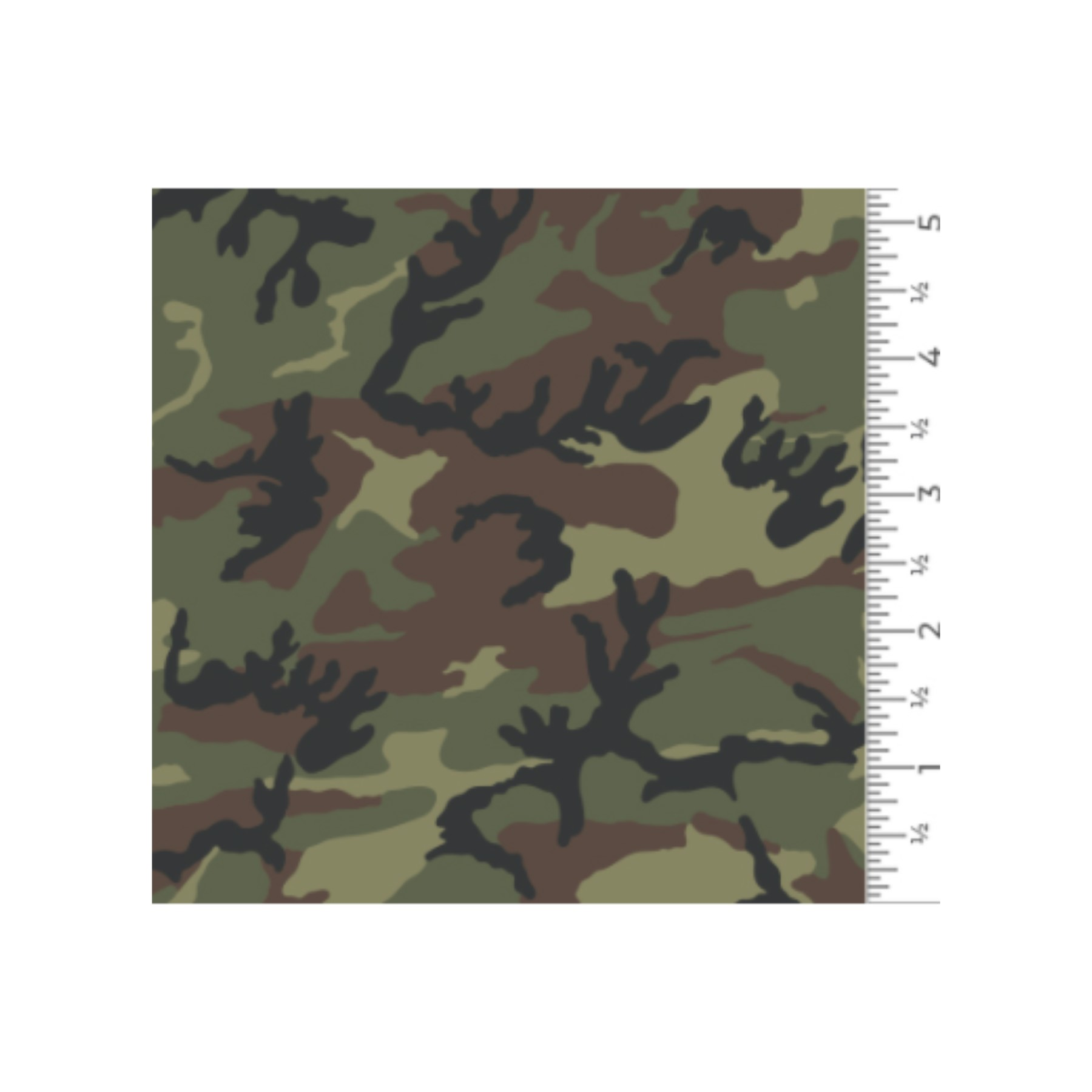 Vinilo textil diseños EasyPatterns® 30 x 50 cm Camuflaje verde
