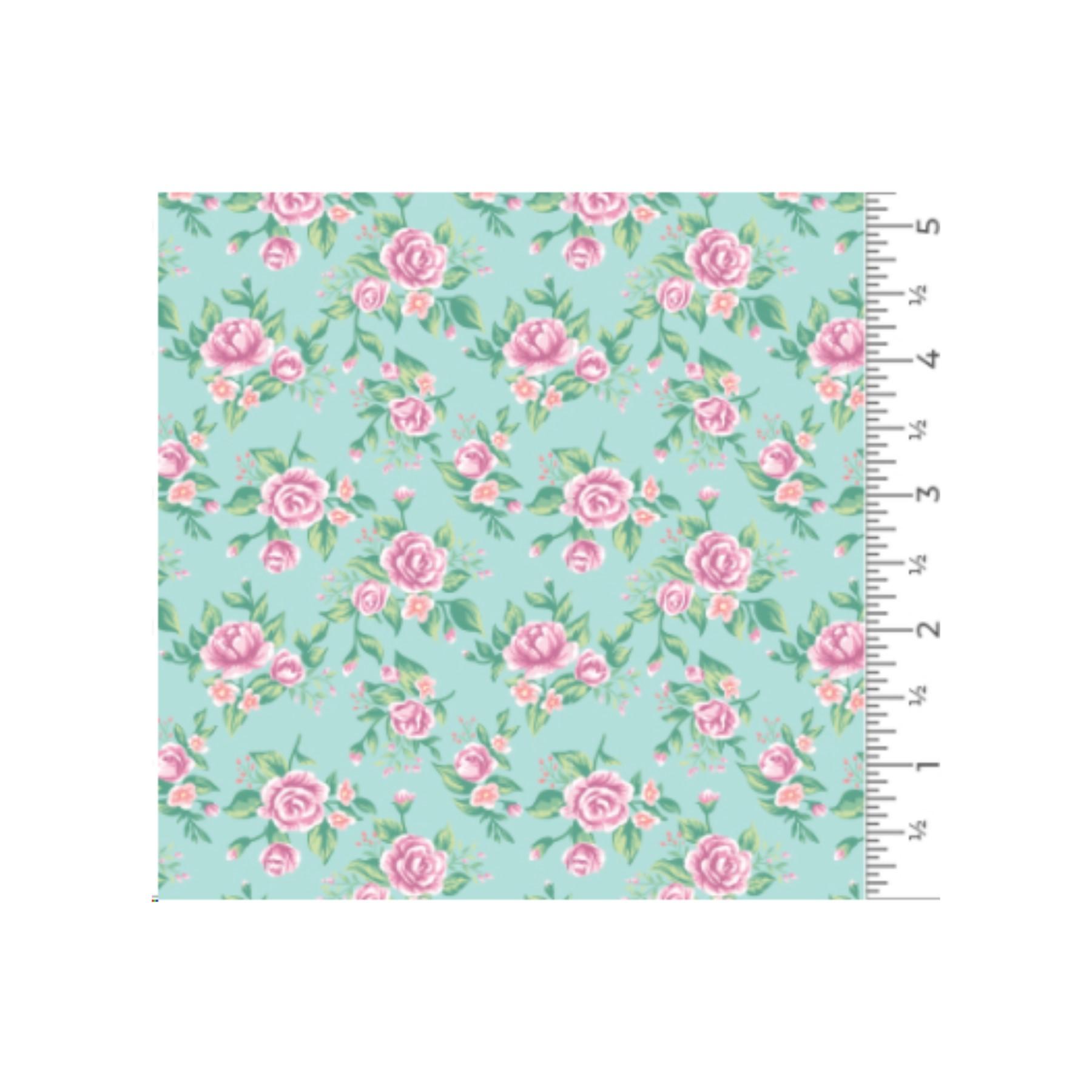 Vinilo textil diseños EasyPatterns® 30 x 50 cm Rosas vintage