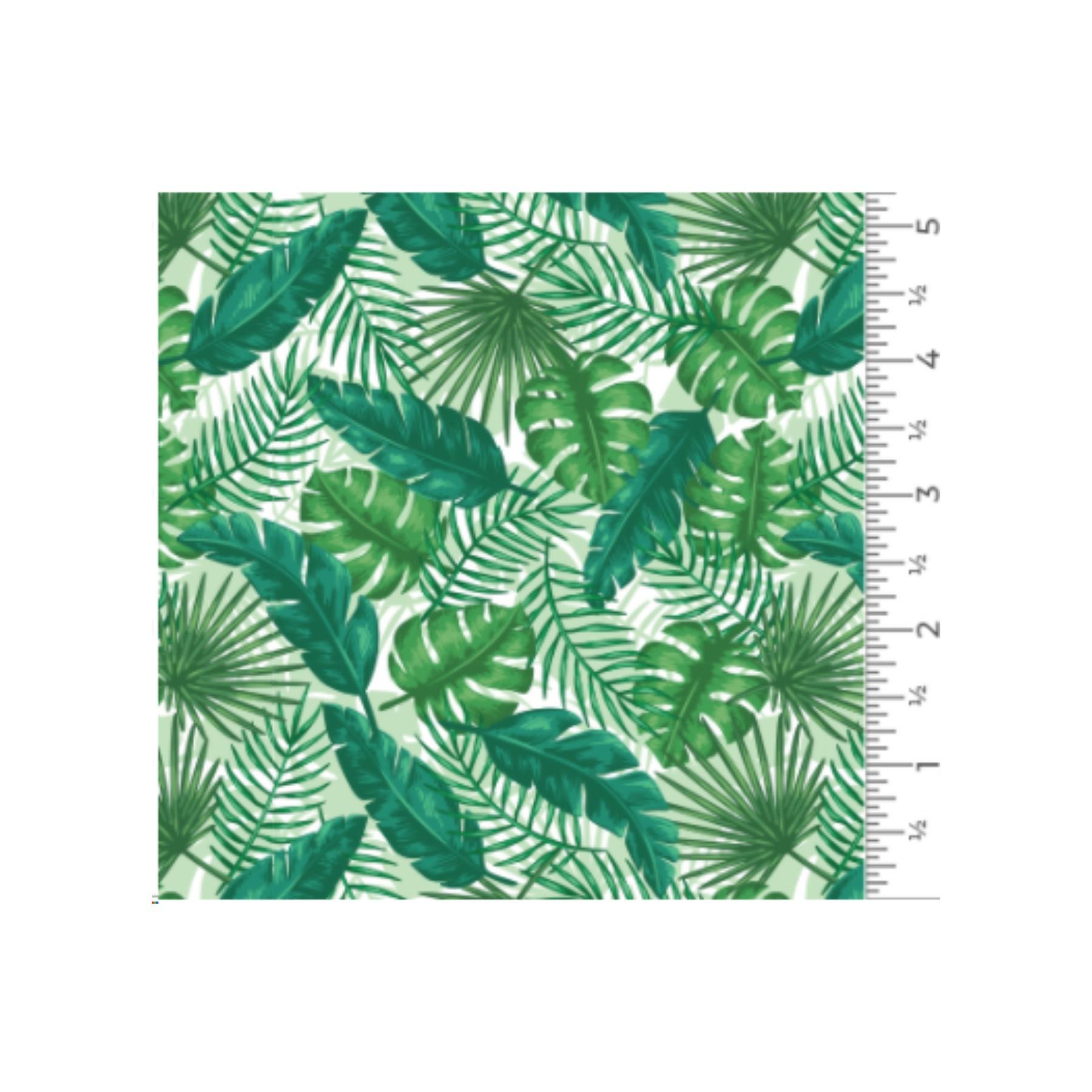 Vinilo textil diseños EasyPatterns® 30 x 50 cm Hojas tropicales