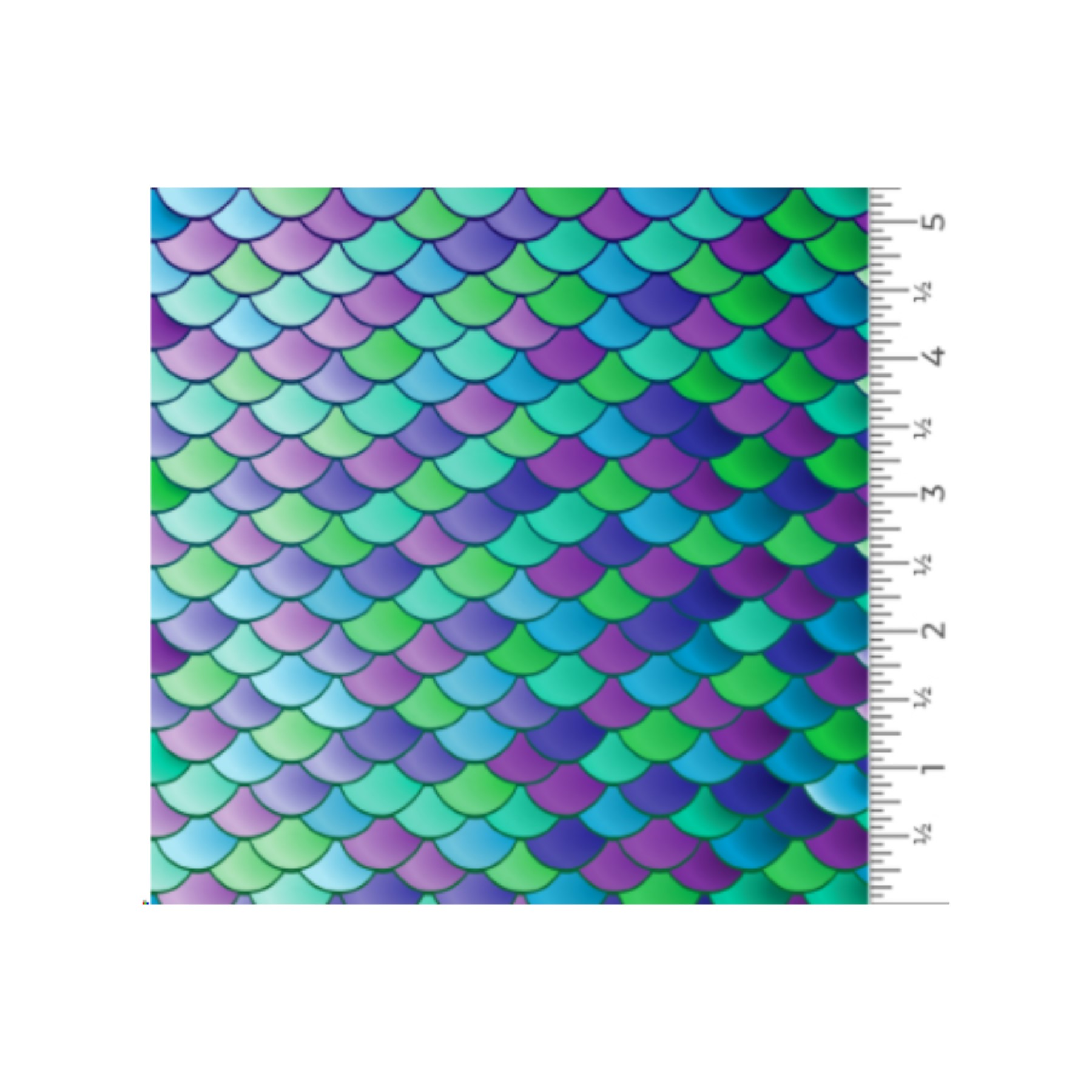 Vinilo textil diseños EasyPatterns® 30 x 50 cm Escamas de sirena
