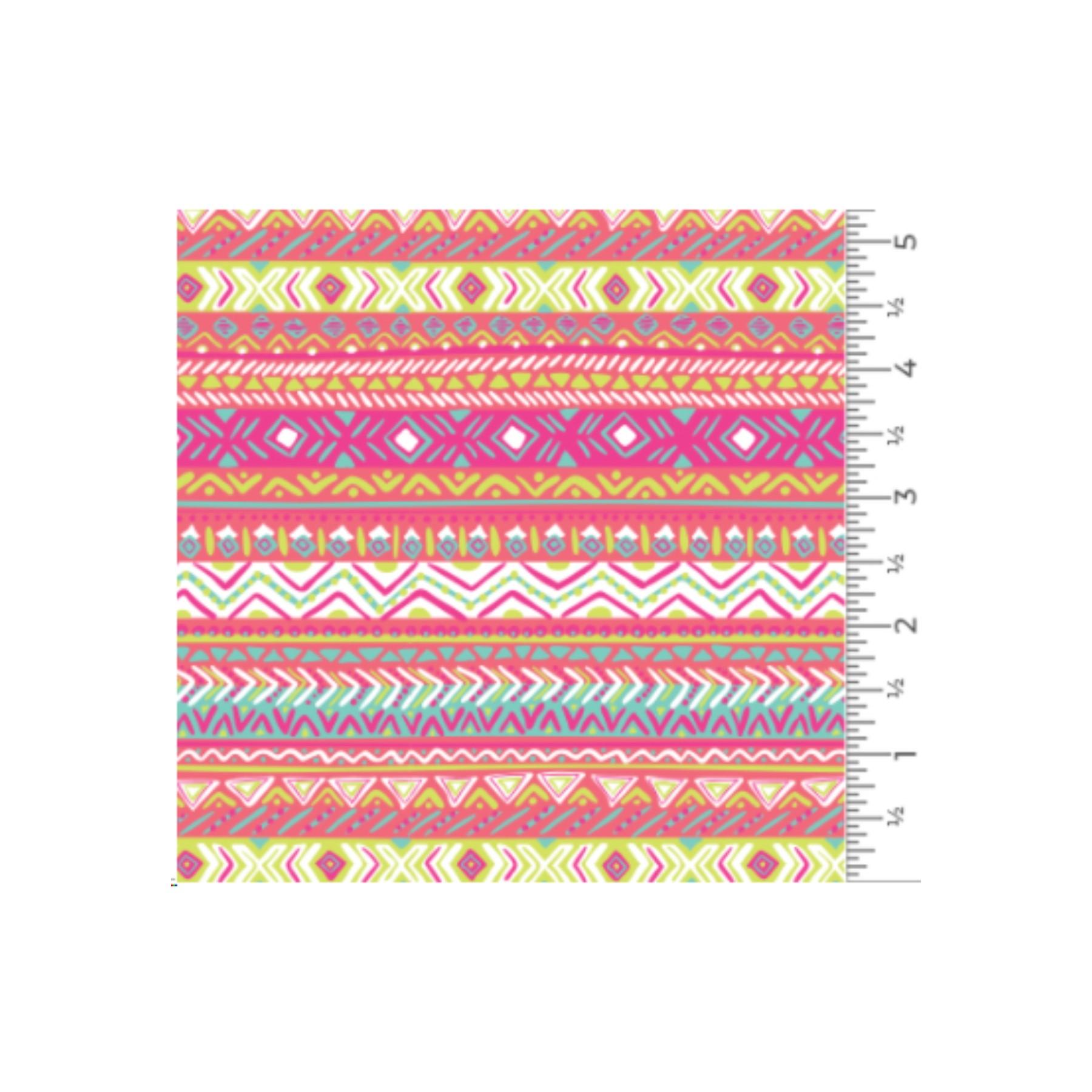 Vinilo textil diseños EasyPatterns® 30 x 50 cm Rayas bohemias