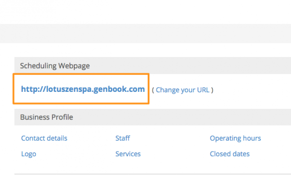 Find your Genbook booking link