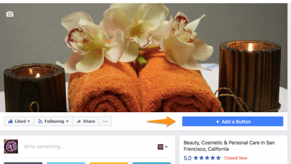 Add a booking button to Facebook