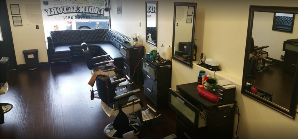 barbershop seating area