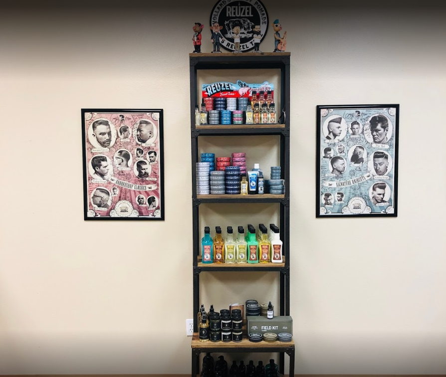 barbershop merchandising display