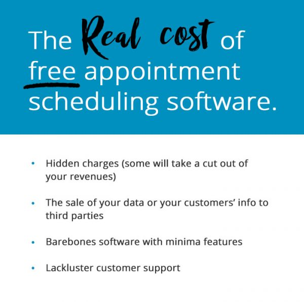 the real cost of appointment scheduling software