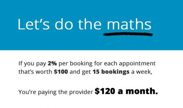 The cost of so-called free appointment scheduling software