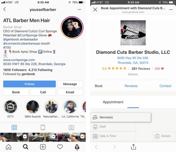 Youssef Barber Instagram booking