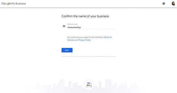 Set up a Google My Business profile step 2