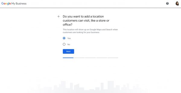 Set up a Google My Business profile step 3