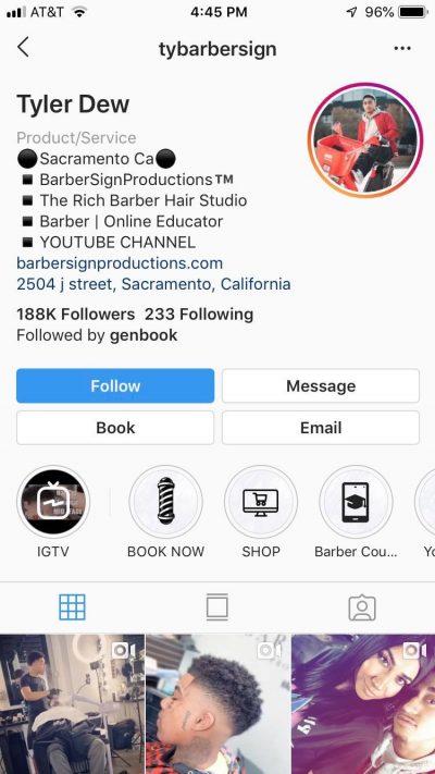 Tyler Dew Instagram page