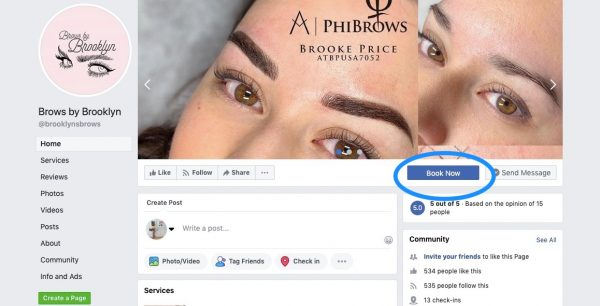 Brows by Brooklyn using Facebook