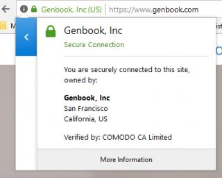 Genbook security certificate