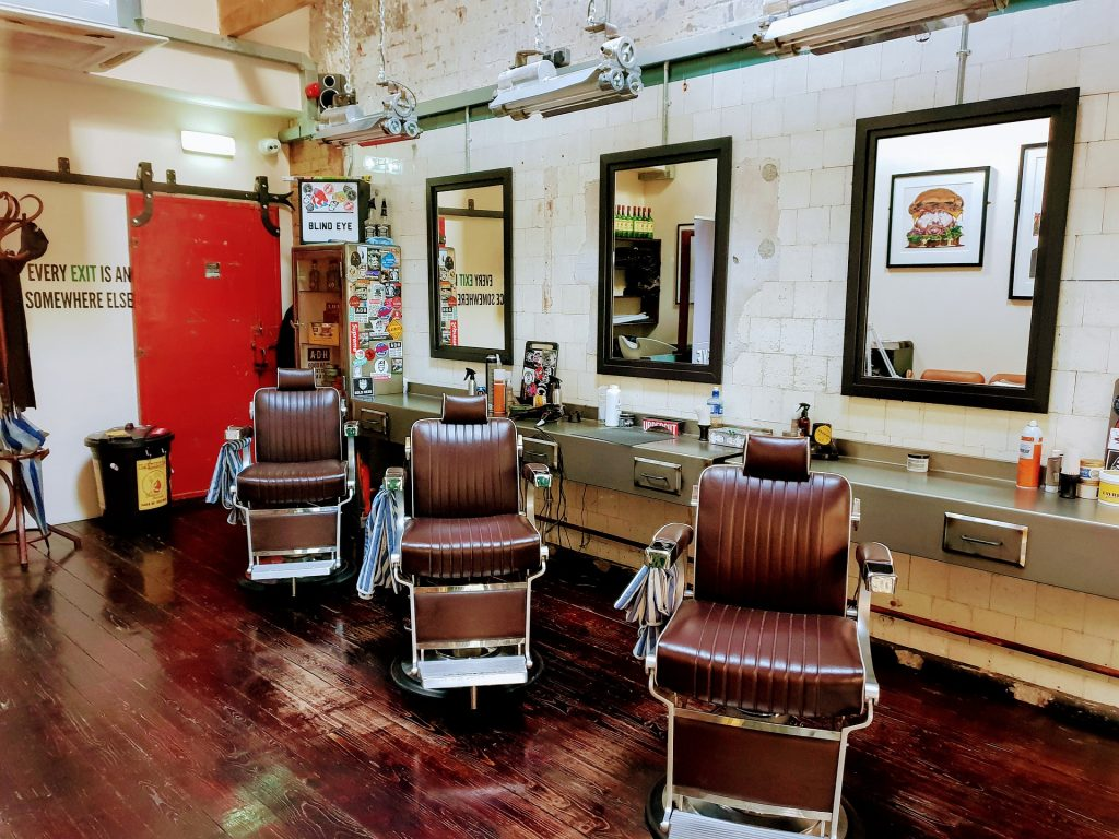 rustic barbershop design