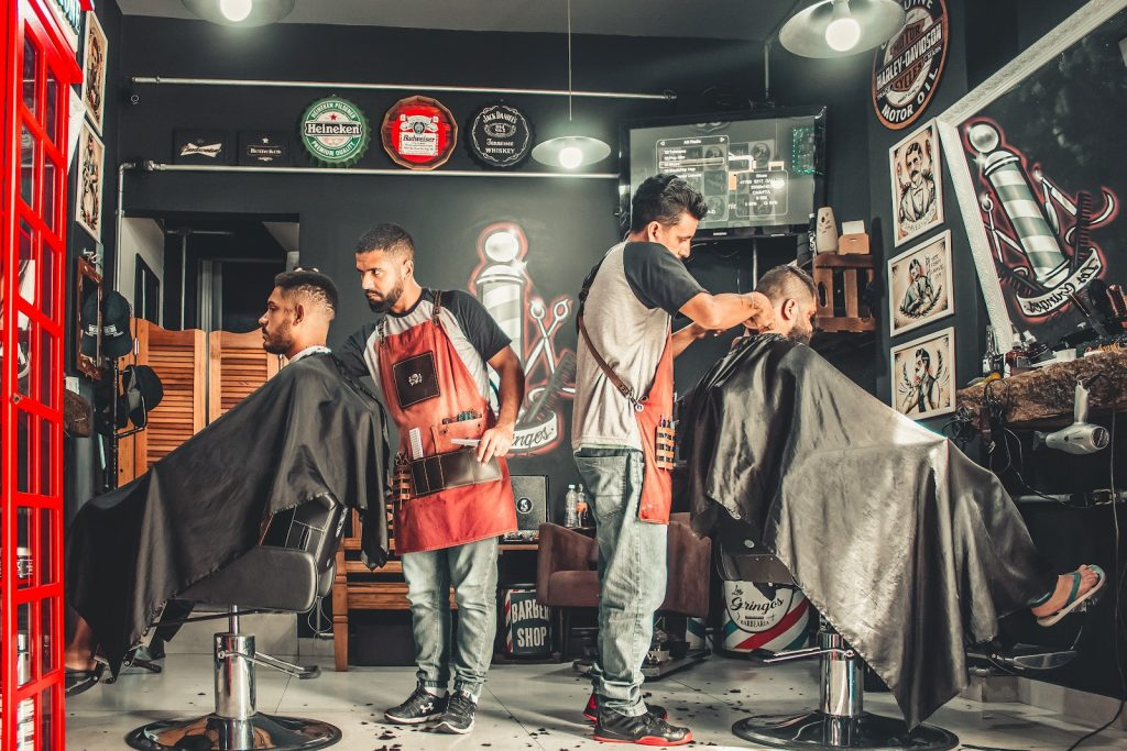 barbershop design: color palette