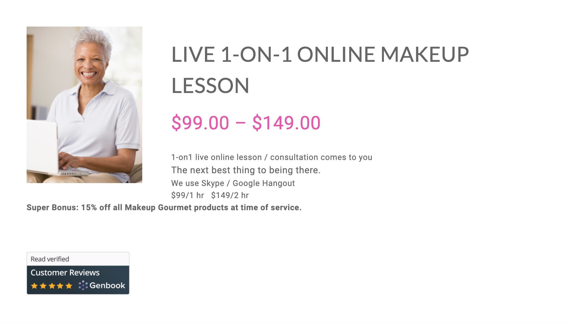 Live 1:1 make up session