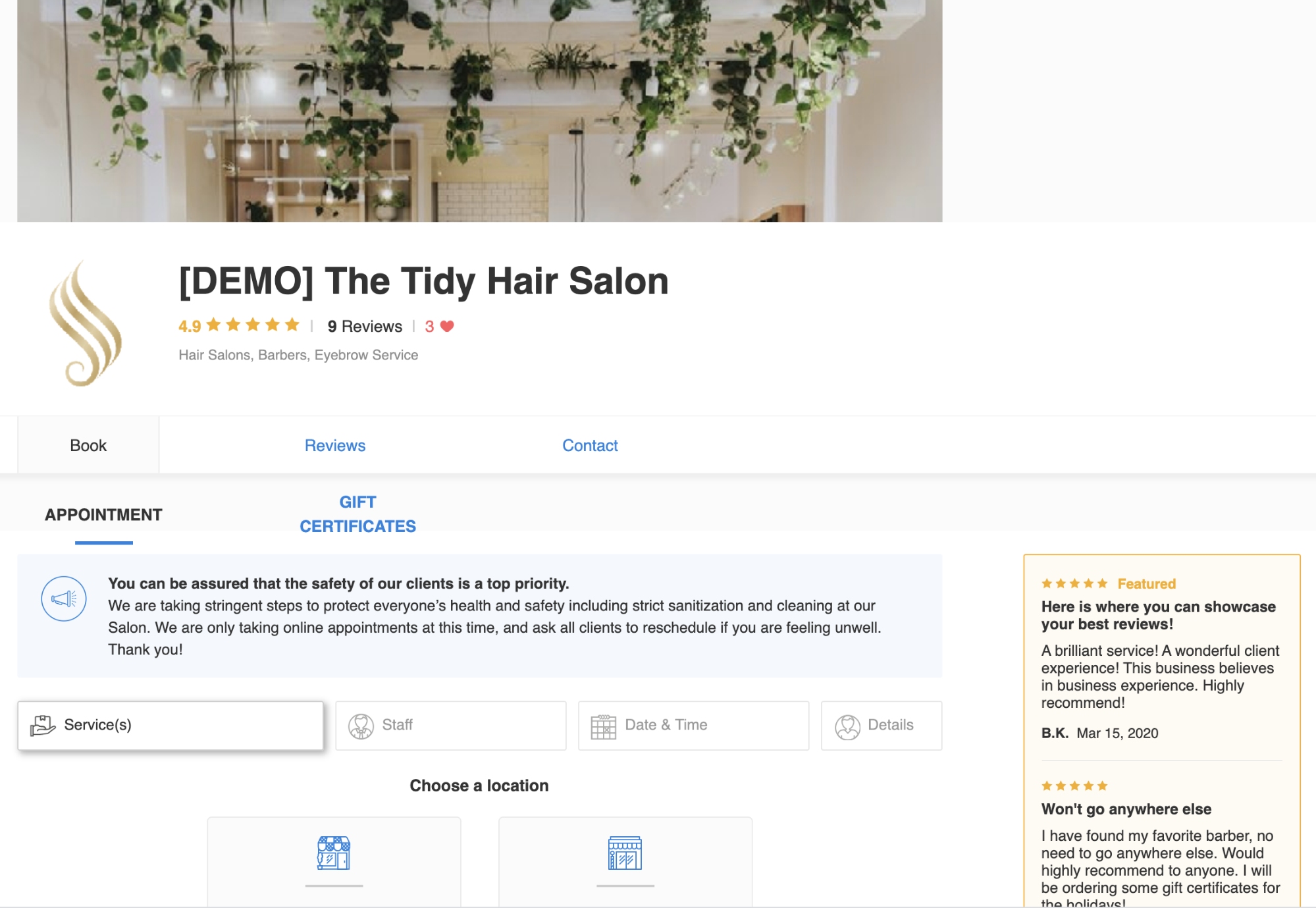 Tidy hair Salon