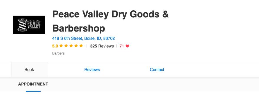 Peace Valley Dry Goods & Barbershop