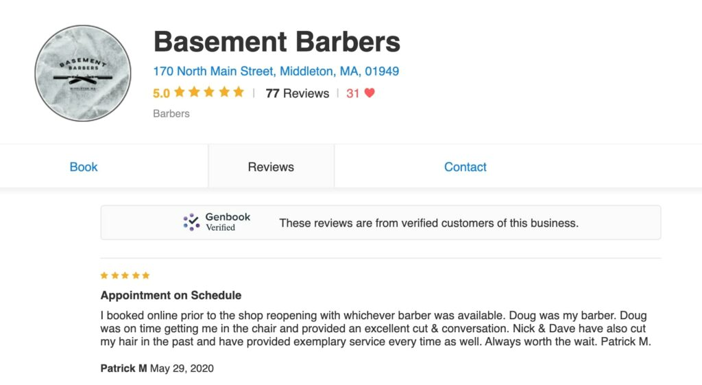 Service Experience: Basement Barbers