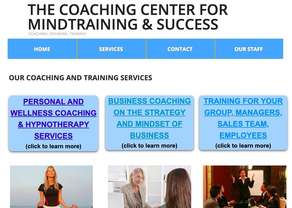 How to start a wellness coaching business: The Coaching Center for Mindtraining and Success