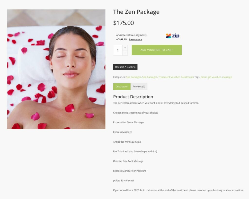 How to sell a service: Erban Spa NZ