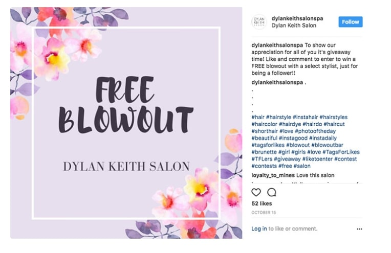 salon advertising examples: Dylan Keith salon