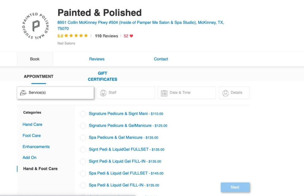 How to sell a service: Painted & Polished