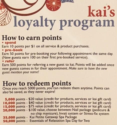 salon advertising examples: loyalty program