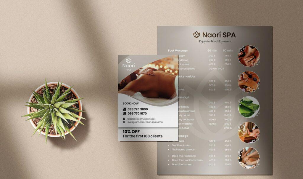 Salon menu: Professional Designer