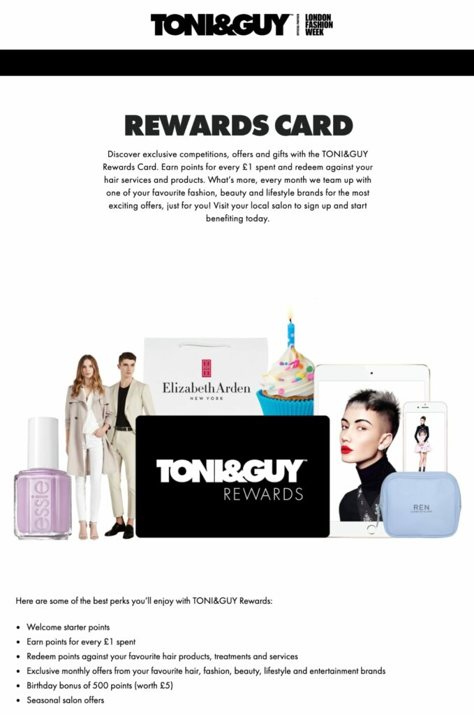 How to make money as a hairstylist: Loyalty Program