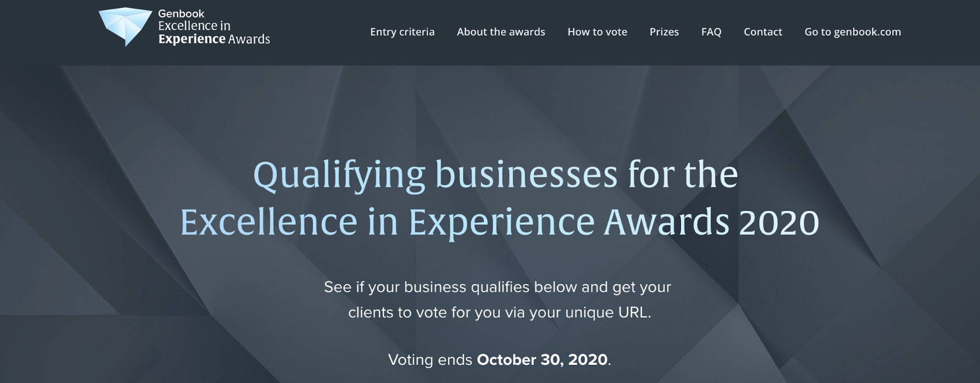 Genbook excellence in experience award
