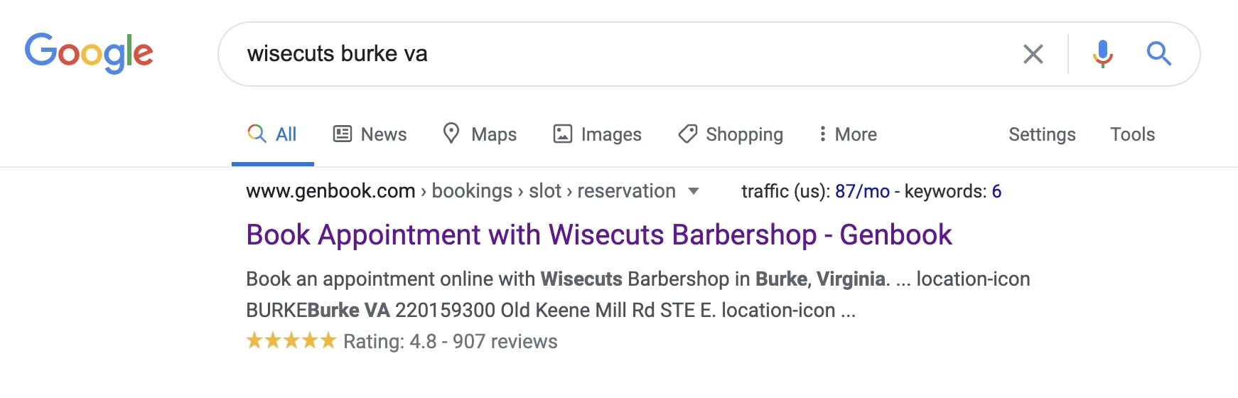 Wisecut Barbers star rating