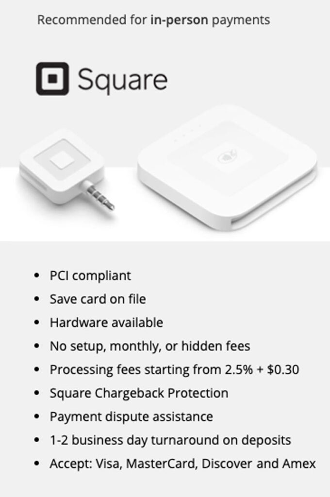Square Payment Processing Systems