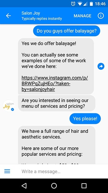 using chatbots to talk with clients