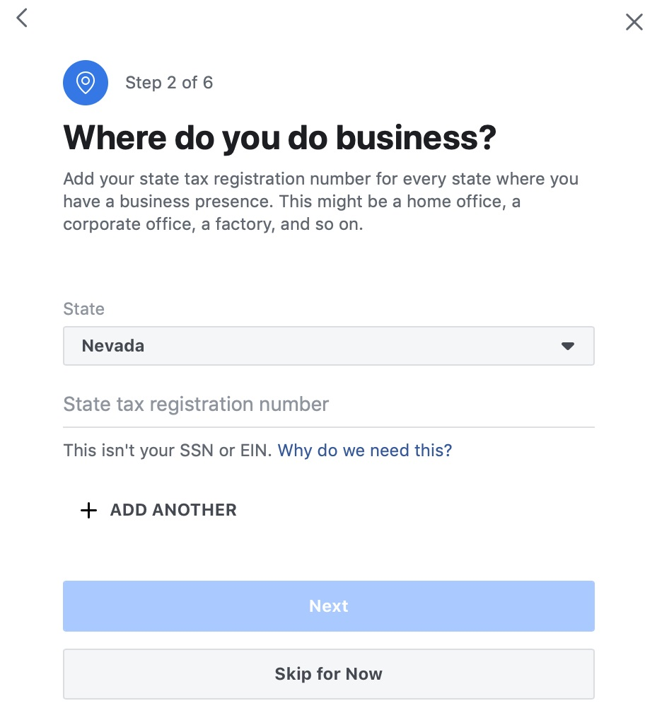 Add business location