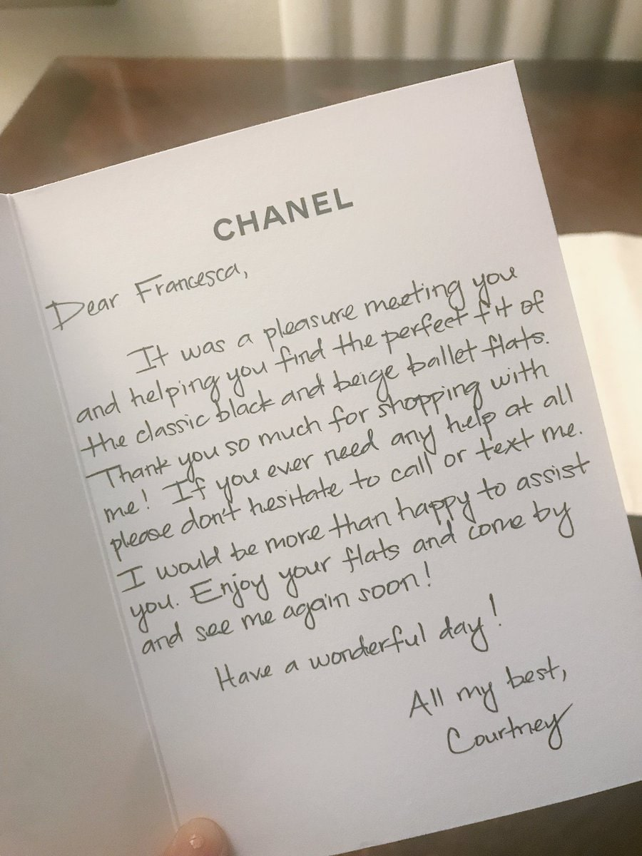 Write a good old fashioned thank you note to clients to thank them
