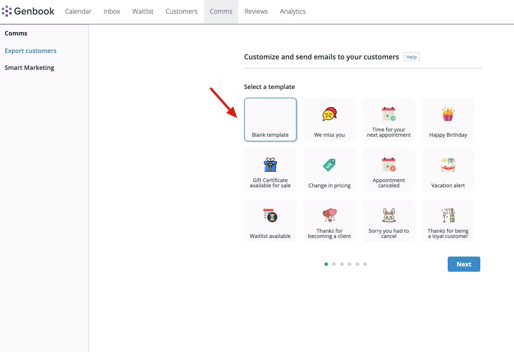Genbook's smart marketing features