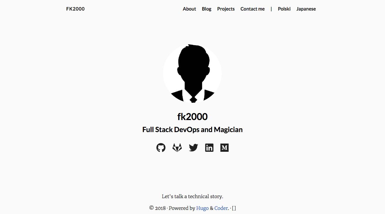 Hugoでブログ付きのポートフォリオサイト