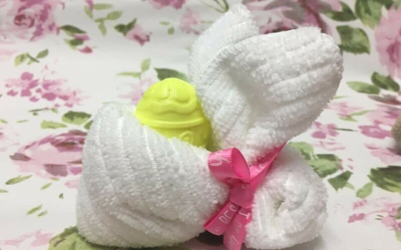 Bunny flannel and soap