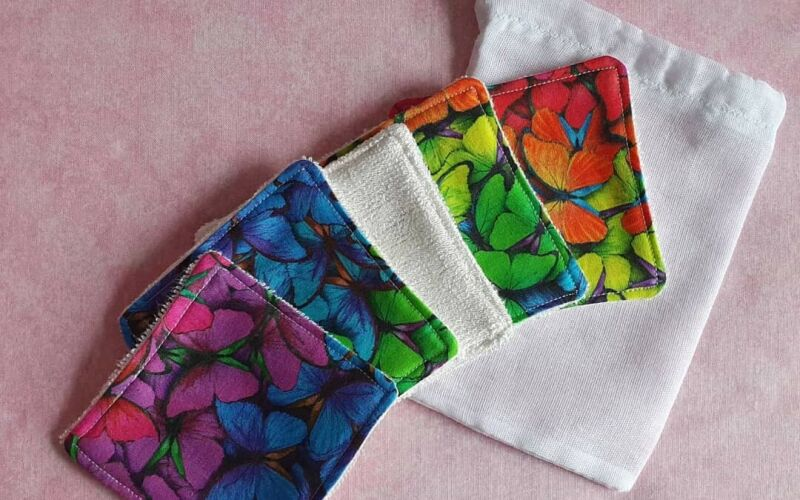 Butterfly reusable/washable makeup removal pads