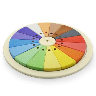 Coloured Wheel Wooden Shape Puzzle
