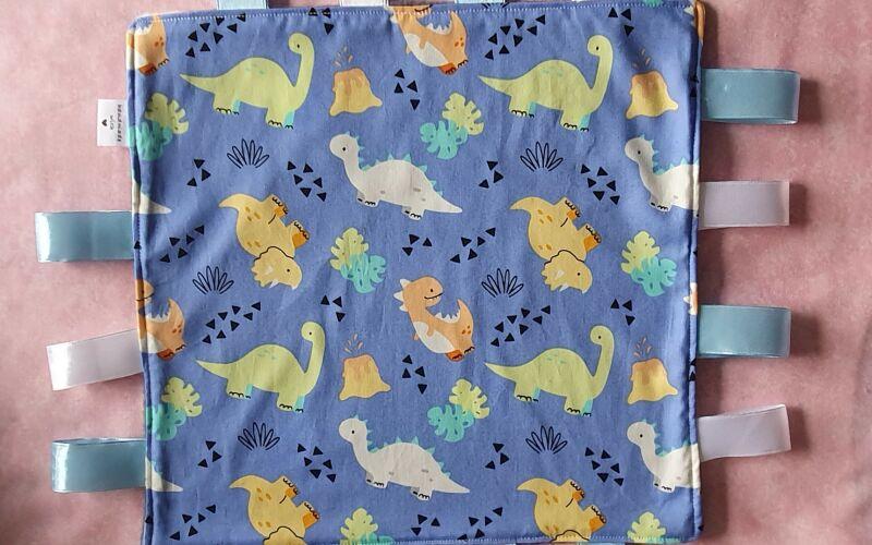 Dinosaur taggie comforter blanket
