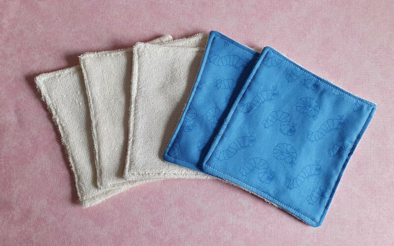 Eco friendly reusable blue baby wipes P