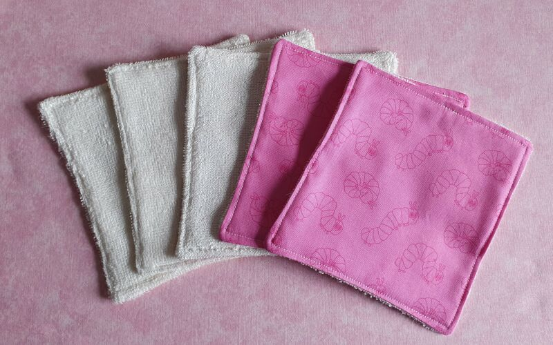 Eco friendly reusable pink baby wipes P