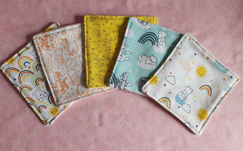 Eco friendly reusable winnie the pooh baby wipes P