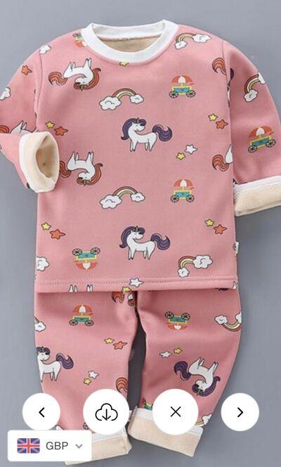Girls Unicorn Pyjamas