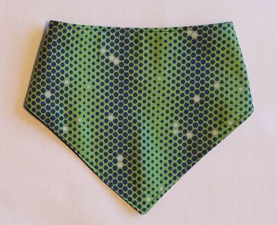 Green/navy sppot Handmade bandana baby bibs